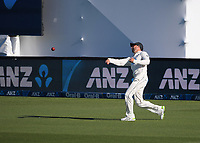 NZ's Devon Conway fields during day two of the second International Test Cricket match between the New Zealand Black Caps and West Indies at the Basin Reserve in Wellington, New Zealand on Friday, 11 December 2020. Photo: Dave Lintott / lintottphoto.co.nz