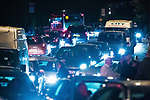 © Joel Goodman - 07973 332324 . 30/06/2012 . Manchester , UK . Traffic jams as crowds pour out of Heaton Park on to surrounding streets after the end of the Stone Roses Second Coming reunion gig . Photo credit : Joel Goodman