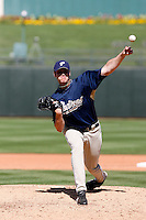 Nick Schmidt  - San Diego Padres - 2009 spring training.Photo by:  Bill Mitchell/Four Seam Images