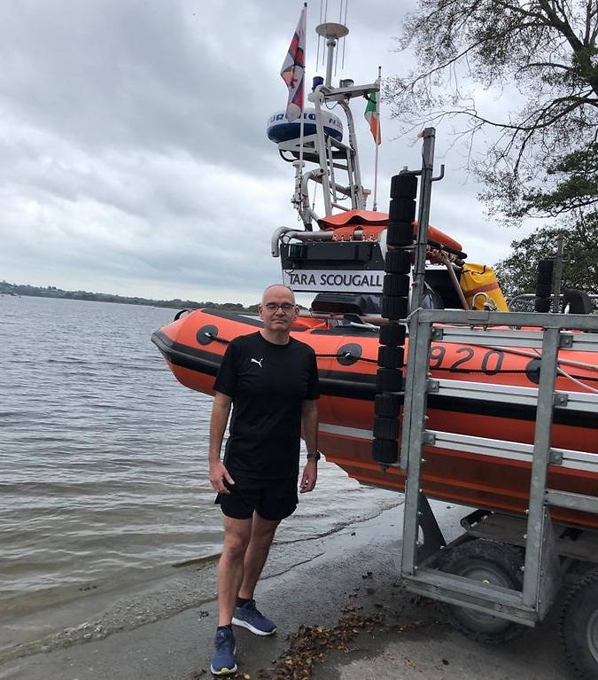 Athlone runner Denis Bergin is rasiing funds for the RNLI