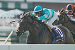 July 17, 2021: Tribhuvan (FR) #10, ridden by jockey Flavien Prat goes wire to wire to win the Grade 1 United Nations Stakes on Haskell Invitational Day at Monmouth Park Racecourse in Oceanport, New Jersey on July 17, 2021. Scott Serio/Eclipse Sportswire/CSM