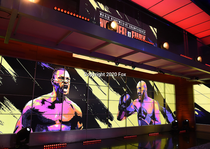 """LOS ANGELES - JANUARY 25: Los Angeles press conference on January 25, 2020 for the """"Wilder vs Fury II"""" FOX SPORTS PPV & ESPN+ PPV which will take place on Feb. 22 from the MGM Grand Garden Arena in Las Vegas. (Photo by Frank Micelotta/Fox Sports/PictureGroup)"""