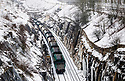 08/03/18<br /> <br /> A freight train passes through a cutting lined with icicles  near Doveholes after snow returns to the Derbyshire Peak District.<br /> <br /> All Rights Reserved F Stop Press Ltd. +44 (0)1335 344240 +44 (0)7765 242650  www.fstoppress.com