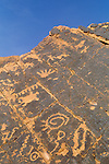 Ancient rock art panel in Nevada within Valley of Fire State Park.