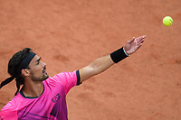 4th July 2021; Roland Garros, Paris France; French Open tennis championships day 6;  Fabio Fognini ( Italy )