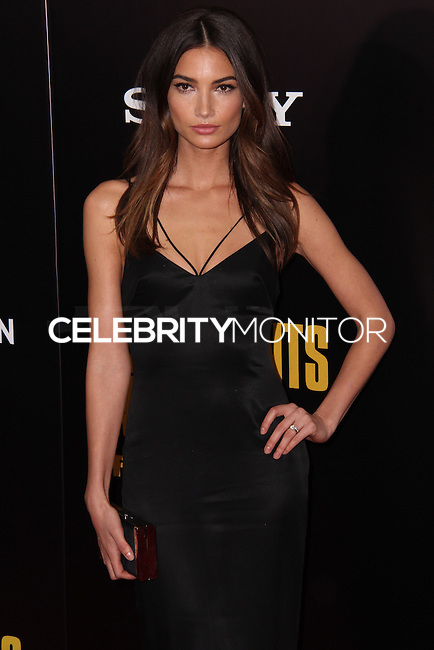"""NEW YORK, NY - FEBRUARY 04: Lily Aldridge at the New York Premiere Of Columbia Pictures' """"The Monuments Men"""" held at Ziegfeld Theater on February 4, 2014 in New York City, New York. (Photo by Jeffery Duran/Celebrity Monitor)"""
