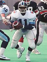 Ricky Turner Toronto Argonauts quarterback 1985. Photo Scott Grant