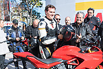 President of Ciudadanos Albert Rivera during the meeting wiht bikers in Madrid