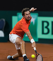 The Hague, The Netherlands, September 17, 2017,  Sportcampus , Davis Cup Netherlands - Chech Republic, Third match :Robin Haase (NED) <br /> Photo: Tennisimages/Henk Koster