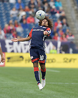 New England Revolution defender Kevin Alston (30) traps the ball. The New England Revolution out scored the Chicago Fire, 2-1, in Game 1 of the Eastern Conference Semifinal Series at Gillette Stadium on November 1, 2009.