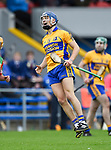 Brian Corry of Sixmilebridge reacts to a score in action against  Clooney-Quin during their senior county final at Cusack Park. Photograph by John Kelly.