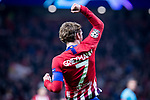 Atletico de Madrid Antoine Griezmann celebrating a goal during group stage of UEFA Champions League match between Atletico de Madrid and Borussia Dortmund at Wanda Metropolitano in Madrid, Spain.November 06, 2018. (ALTERPHOTOS/Borja B.Hojas)