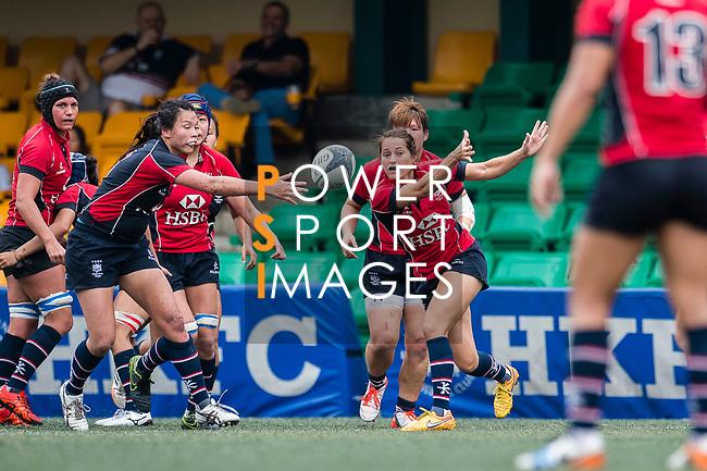 Lindsay Varty of Lions (R) in action during the Women's National Super Series 2017 on 13 May 2017, in Hong Kong Football Club, Hong Kong, China. Photo by Marcio Rodrigo Machado / Power Sport Images