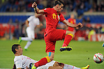 Wales v Serbia FIFA 2014 World Cup Qualifying match - Cardiff - 100913 <br /> Gareth Bale of Wales is tackled by Aleksandar Kolarov of  Serbia at the Cardiff City stadium tonight.