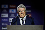 Enrique Cerezo during the official presentation of Alvaro Morata as new player of Atletico de Madrid at Wanda Metropolitano Stadium in Madrid, Spain. January 29, 2019. (ALTERPHOTOS/A. Perez Meca) (ALTERPHOTOS/A. Perez Meca)