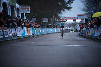 Toon Aerts (BEL/Telenet-Fidea) can't believe he pulled it off: his first important pro victory<br /> <br /> Soudal Classic Leuven 2016