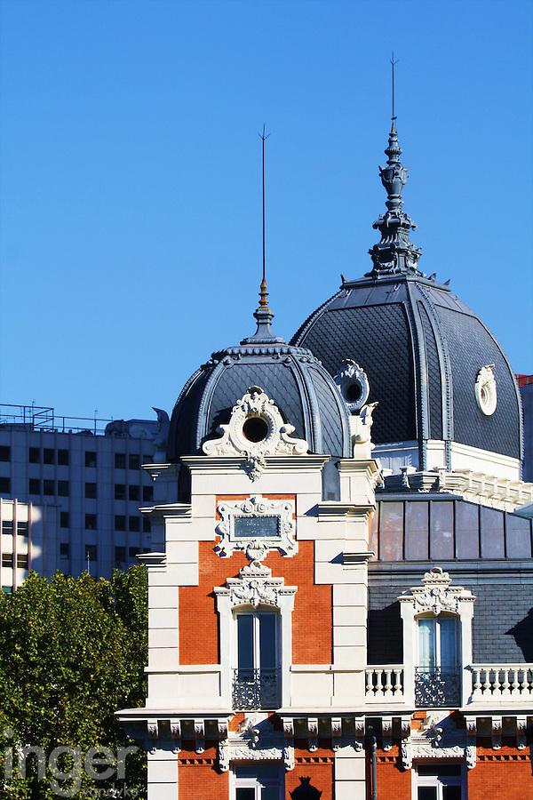 Buildings of Madrid, Spain