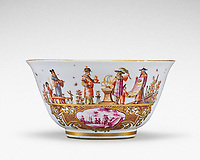 BNPS.co.uk (01202 558833)<br /> Pic: Sotheby's/BNPS<br /> <br /> Pictured: Meissen armorial waste bowl from the service made for Clemens August, Elector of Cologne has sold for £440,000.<br /> <br /> A stunning collection of German porcelain that was found by the so-called Monuments Men before it could be destroyed by the Nazis has sold 76 years later for over £10m.<br /> <br /> The hoard of Meissen antiques that was seized by the Third Reich during the Second World War was discovered in a salt mine in Austria in 1945.<br /> <br /> It had been amassed years earlier by German-Jewish industrialist Dr Franz Oppenheimer and his wife Margarethe.