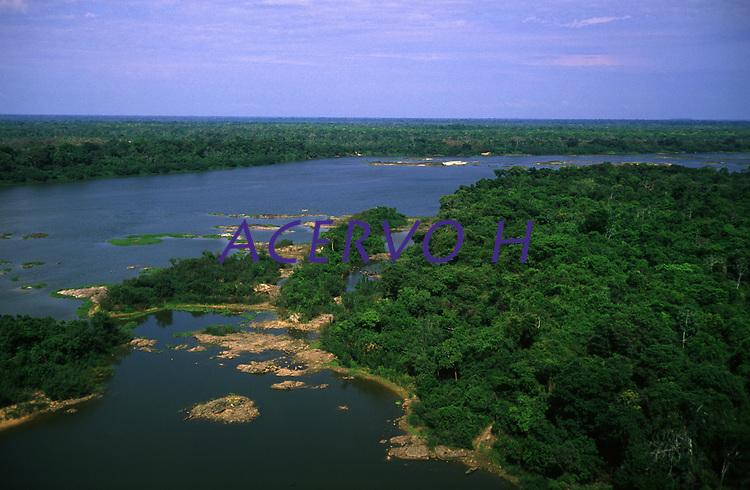 imagem aérea do rio Guaporé - Rondônia