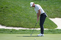 4th June 2021; Dublin, Ohio, USA; Rory McIlroy (NIR) watches his putt on the 18th hole during the second round of the Memorial Tournament at Muirfield Village Golf Club in Dublin, Ohio on June 04, 2021.