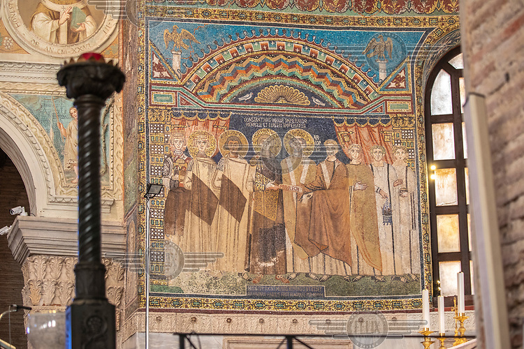 The Basilica of Sant' Apollinare in Classe (Saint Apollinaris in Classe).