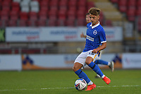 Jack Spong of Brighton & Hove Albion (U23s) in action during the EFL Trophy behind closed doors match between Leyton Orient and Brighton & Hove Albion Under 21s at the Matchroom Stadium, London, England played without supporters able to attend due to ongoing covid-19 government guidelines on 8 September 2020. Photo by Vince  Mignott.