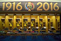 Photo before the match Ecuador vs Haiti, Corresponding to  Group -B- of the America Cup Centenary 2016 at Metlife Stadium.<br /> <br /> Foto previo al partido Ecuador vs Haiti, Correspondiente al Grupo -B- de la Copa America Centenario 2016 en el Estadio Metlife, en la foto: Vestidores de Ecuador<br /> <br /> <br /> 12/06/2016/MEXSPORT/Javier Ramirez.