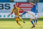 20.02.2021, xtgx, Fussball 3. Liga, FC Hansa Rostock - SV Waldhof Mannheim, v.l. Anton Donkor (Mannheim, 19), Bjoern Rother (Hansa Rostock, 6) Zweikampf, Duell, Kampf, tackle <br /> <br /> (DFL/DFB REGULATIONS PROHIBIT ANY USE OF PHOTOGRAPHS as IMAGE SEQUENCES and/or QUASI-VIDEO)<br /> <br /> Foto © PIX-Sportfotos *** Foto ist honorarpflichtig! *** Auf Anfrage in hoeherer Qualitaet/Aufloesung. Belegexemplar erbeten. Veroeffentlichung ausschliesslich fuer journalistisch-publizistische Zwecke. For editorial use only.