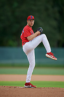 GCL Phillies West pitcher Josh Hendrickson (37) during a Gulf Coast League game against the GCL Tigers West on July 27, 2019 at the Carpenter Complex in Clearwater, Florida.  (Mike Janes/Four Seam Images)