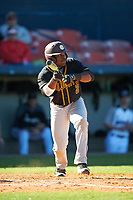 Bethune-Cookman Wildcats left fielder Rakeem Quinn (2) squares to bunt during a game against the Wisconsin-Milwaukee Panthers on February 26, 2016 at Chain of Lakes Stadium in Winter Haven, Florida.  Wisconsin-Milwaukee defeated Bethune-Cookman 11-0.  (Mike Janes/Four Seam Images)