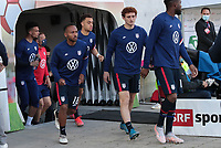ST. GALLEN, SWITZERLAND - MAY 30: USMNT enter the field during a game between Switzerland and USMNT at Kybunpark on May 30, 2021 in St. Gallen, Switzerland.