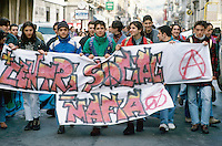 - Reggio Calabria, demonstration of students of the advanced schools against the Mafia and the organized crime<br /> <br /> - Reggio Calabria, manifestazione di studenti delle scuole superiori contro la mafia e la criminalità organizzata