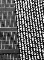 aerial photograph imported cars Port of Benicia, Contra Costa County, California