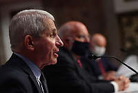 Dr. Anthony Fauci, director of the National Institute for Allergy and Infectious Diseases, testifies before the Senate Health, Education, Labor and Pensions (HELP) Committee on Capitol Hill in Washington DC on Tuesday, June 30, 2020.  Fauci and other government health officials updated the Senate on how to safely get back to school and the workplace during the COVID-19 pandemic. <br /> Credit: Kevin Dietsch/CNP/AdMedia