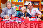 """Book Signing: Gabriel Fitzmaurice, Moyvane signing his new book """"Katie"""" with Katie Crowley & Armel Whyte at Woulfe's book shop, Listowel on Saturday last."""