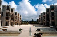 Louis I. Kahn: Salk Institute, La Jolla 1965. Court. Brutalist Architecture. Photo 2004.