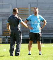 Friday 4th September 2020 | Ulster Captain's Run<br /> <br /> Ulster Rugby Team Manager Nigel Brady and Head of S&C Tom Clough during Captain's Run ahead of the Guinness PRO14 Semi-Final between Edinburgh and Ulster at the BT Murrayfield Stadium Edinburgh, Scotland. Photo by John Dickson / Dicksondigital