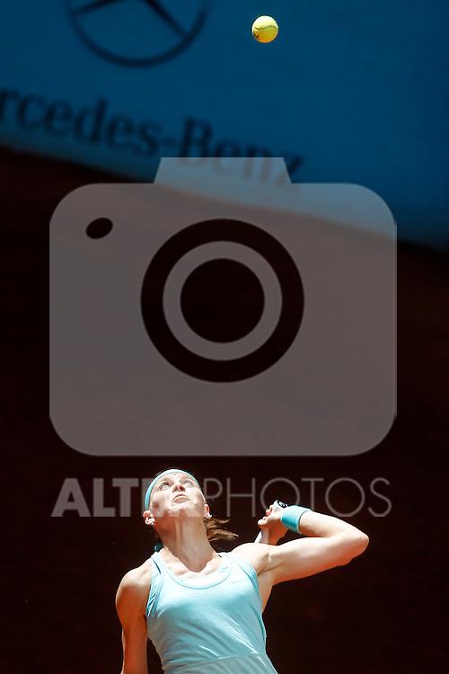 Lucie Safarova, Czech Republic, during Madrid Open Tennis 2015 match.May, 7, 2015.(ALTERPHOTOS/Acero)