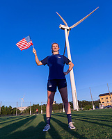 KASHIMA, JAPAN - AUGUST 4: Samantha Mewis #3 of the USWNT poses for a photo after a training session at the practice field on August 4, 2021 in Kashima, Japan.