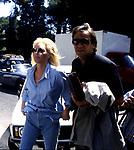 ANNA OXA CON IL COMPAGNO GIANNI BELLENO<br /> ROMA 1989
