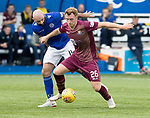 Queen of the South v St Johnstone…18.08.18…  Palmerston    BetFred Cup<br />Liam Craig and Gary Harkins<br />Picture by Graeme Hart. <br />Copyright Perthshire Picture Agency<br />Tel: 01738 623350  Mobile: 07990 594431