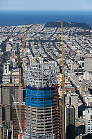 aerial photograph Salesforce Tower under construction, San Francisco, California