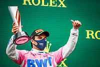 podium PEREZ Sergio (mex), Racing Point F1 RP20, portrait during the Formula 1 DHL Turkish Grand Prix 2020, from November 13 to 15, 2020 on the  Intercity Istanbul Park, in Tuzla, near Istanbul, Turkey  <br /> Formula 1 GP Turchia 15/11/2020<br /> Foto DPPI/Panoramic/Insidefoto <br /> ITALY ONLY