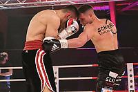 19th December 2020, Hamburg, Germany; Universal Boxing Promotion fight, Felix Sturm versus Timo Rost; Sturm with a left bady jab