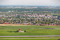Photo aerienne de laeroport de Saint-Hubert<br /> <br /> PHOTO : Denis Germain<br />  - Agence Quebec Presse