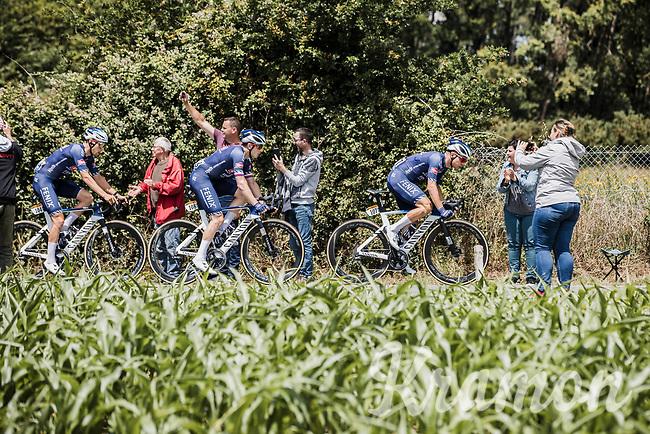 , Kristian Sbaragli (ITA/Alpecin-Fenix), Petr Vakoc (CZE/Alpecin-Fenix) and  Xandro Meurisse (BEL/Alpecin-Fenix) in front of the peloton<br /> <br /> Stage 4 from Redon to Fougéres (150.4km)<br /> 108th Tour de France 2021 (2.UWT)<br /> <br /> ©kramon