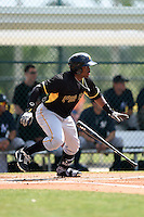 Pittsburgh Pirates outfielder Barrett Barnes (10) during a minor league spring training game against the New York Yankees on March 22, 2014 at Pirate City in Bradenton, Florida.  (Mike Janes/Four Seam Images)