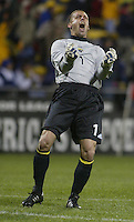 Columbus Crew's Jon Busch (1) during the first half at Columbus Crew Stadium in Columbus, Ohio Saturday April 2, 2005.