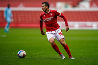 3rd October 2020; City Ground, Nottinghamshire, Midlands, England; English Football League Championship Football, Nottingham Forest versus Bristol City; Luke Freeman of Nottingham Forest gets ready to line up a shot from the left edge of the box and score in the 35th minute for 1-2