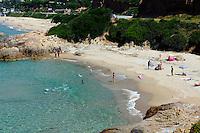 Strand in der Bucht von Sagone, Korsika, Frankreich